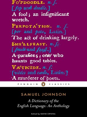 cover image of A Dictionary of the English Language:  an Anthology