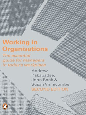 cover image of Working in Organisations