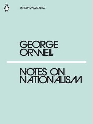 cover image of Notes on Nationalism