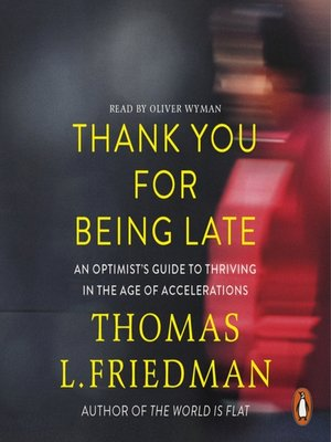 cover image of Thank You for Being Late