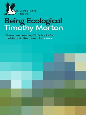 cover image of Being Ecological