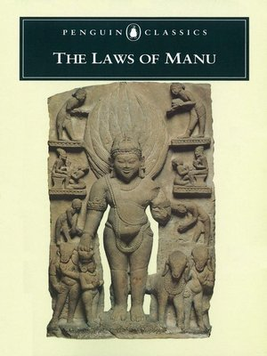 cover image of The Laws of Manu