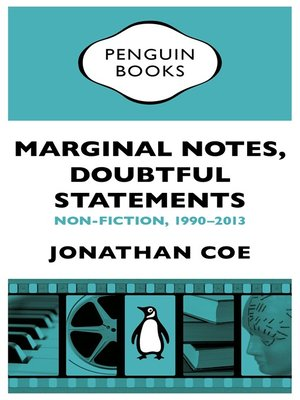 cover image of Marginal Notes, Doubtful Statements