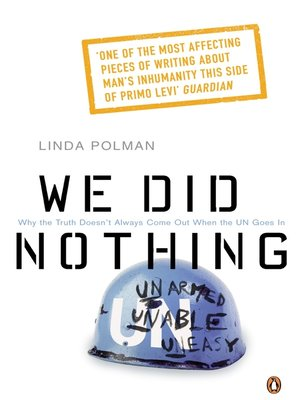 cover image of We Did Nothing