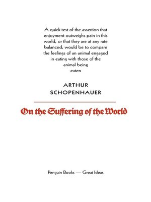 cover image of On the Suffering of the World