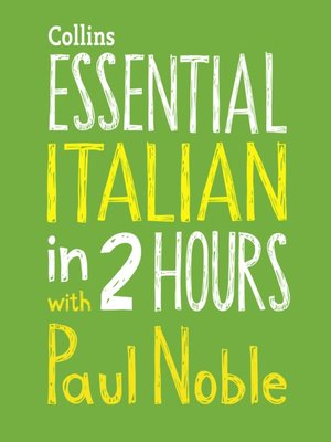 cover image of Essential Italian in Two Hours