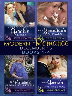 cover image of Modern Romance December 2016 Books 1-4