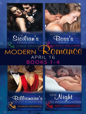 cover image of Modern Romance April 2016 Books 1-4