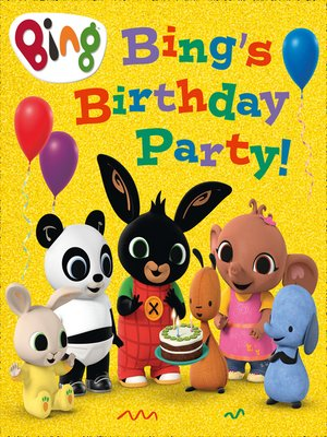cover image of Bing's Birthday Party!