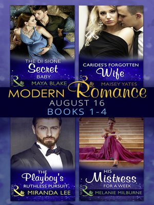 cover image of Modern Romance August 2016 Books 1-4