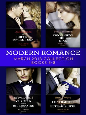 cover image of Modern Romance Collection, March 2018 Books 5--8
