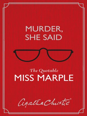 cover image of Murder, She Said