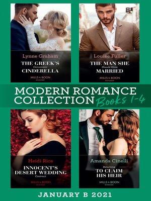 cover image of Modern Romance January 2021 B Books 1-4