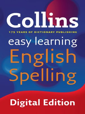 cover image of Collins Easy Learning English Spelling