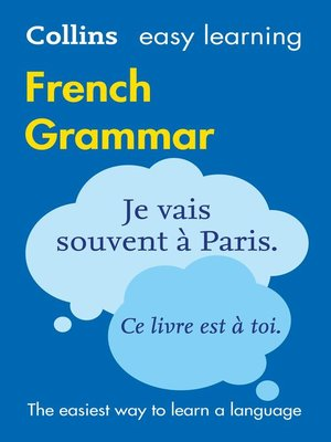 cover image of Easy Learning French Grammar