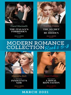 cover image of Modern Romance March 2021 Book 5-8