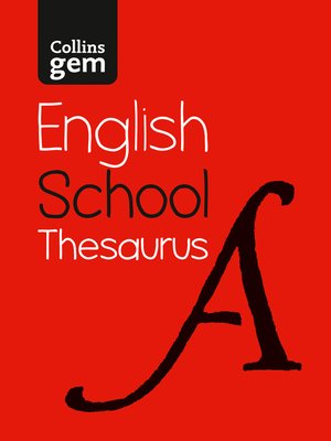 cover image of Collins Gem School Thesaurus