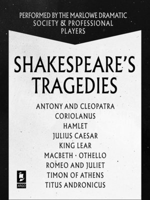 cover image of Shakespeare, The Tragedies