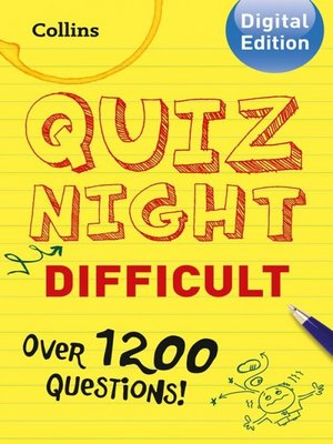 cover image of Collins Quiz Night (Difficult)