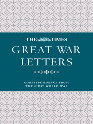 cover image of The Times Great War Letters