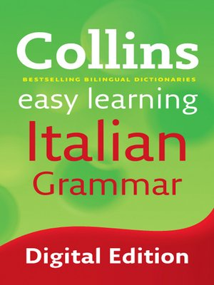 cover image of Collins Easy Learning Italian Grammar