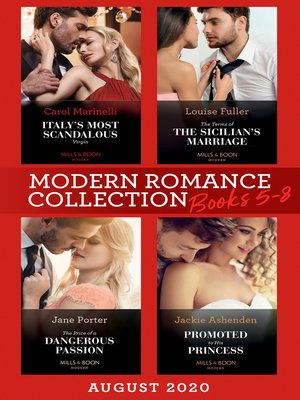 cover image of Modern Romance August 2020 Books 5-8