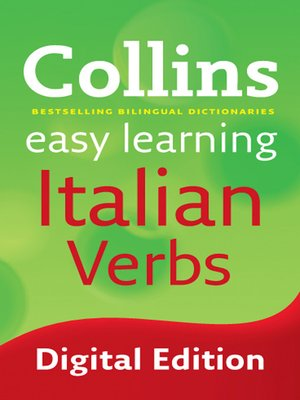 cover image of Collins Easy Learning Italian Verbs