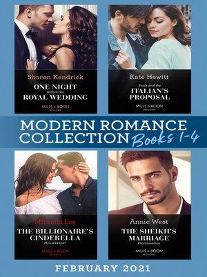 cover image of Modern Romance February 2021 Books 1-4