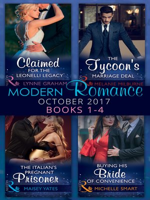 cover image of Modern Romance: October 2017 Books 1--4