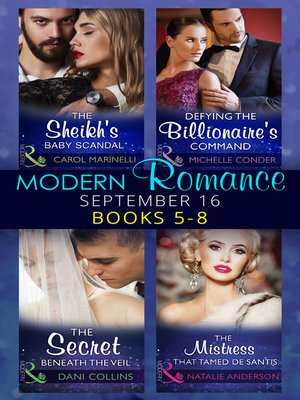 cover image of Modern Romance September 2016 Books 5-8