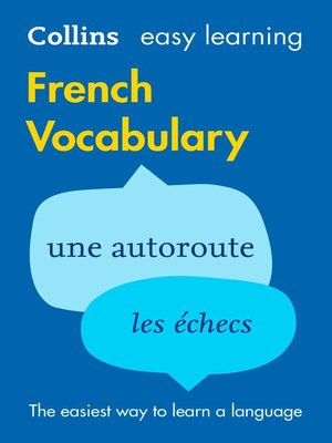 cover image of Easy Learning French Vocabulary