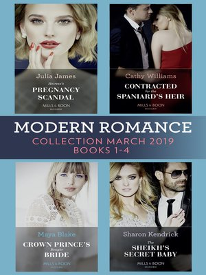 cover image of Modern Romance March 2019 Books 1-4
