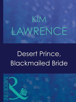 cover image of Desert Prince, Blackmailed Bride