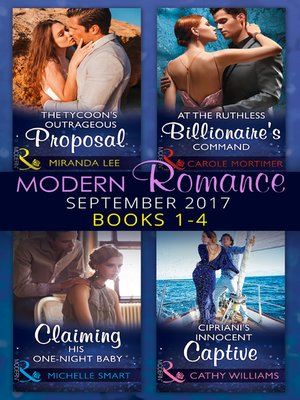 cover image of Modern Romance September 2017 Books 1--4