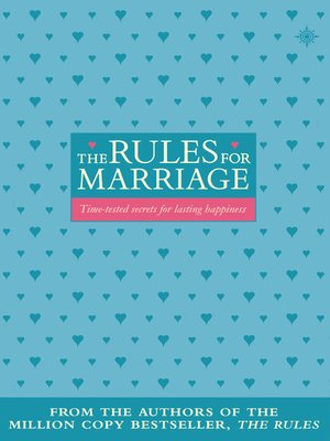 cover image of The Rules for Marriage