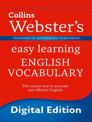 cover image of Webster's Easy Learning English Vocabulary (Collins Webster's Easy Learning)