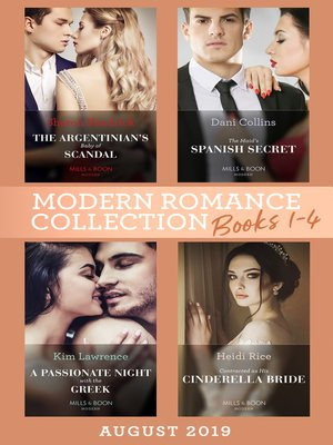 cover image of Modern Romance August 2019 Books 1-4