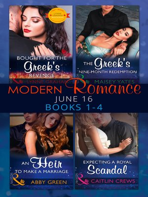 cover image of Modern Romance June 2016, Books 1-4