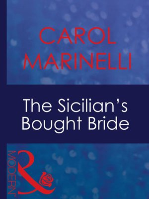 cover image of The Sicilian's Bought Bride