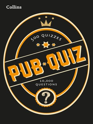 cover image of Collins Pub Quiz