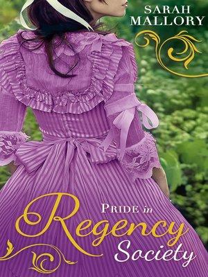cover image of Pride in Regency Society