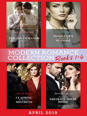 cover image of Modern Romance April 2019 Books 1-4