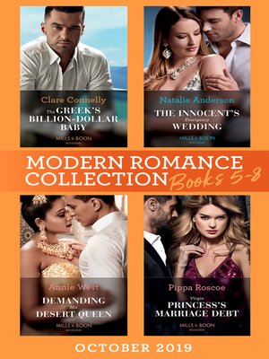 cover image of Modern Romance October 2019 Books 5-8