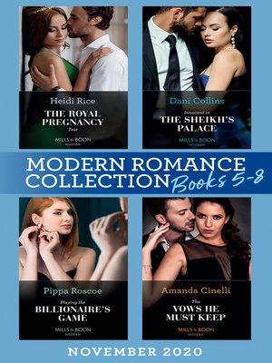 cover image of Modern Romance November 2020 Books 5-8