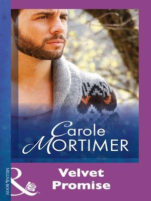 cover image of Velvet Promise
