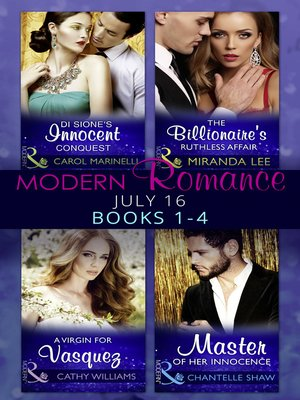 cover image of Modern Romance July 2016, Books 1-4