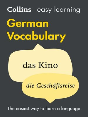 cover image of Easy Learning German Vocabulary