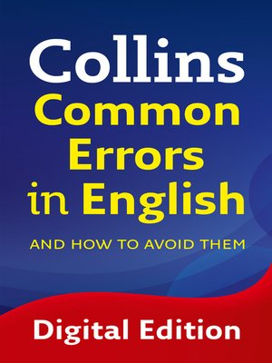 cover image of Collins Common Errors in English