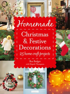 cover image of Homemade Christmas and Festive Decorations