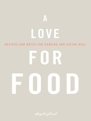 cover image of A Love for Food